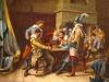 Würfelspielende Soldaten