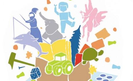 """Der Mehr Zeit für Kinder e.V. hat im September die Mitmach-Initiative """"KiTa-Spielothek"""" ins Leben gerufen. Grafik: Mehr Zeit für Kinder e.V."""