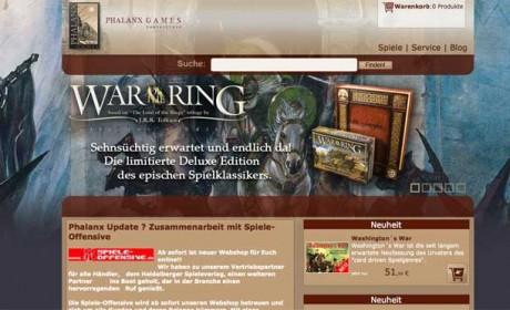 So sieht die neue Startseite des Phalanx-Ladens im Internet aus.