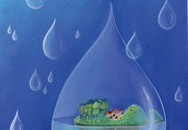 Spiele sind in unserer Welt wie Seifenblasen. Außerhalb der Blasen tobt das echte Leben, innerhalb bauen die Spieler Schlösser, kämpfen gegen Monster oder reisen in die Vergangenheit. Doch wie entstehen diese Parallelwelten? Grafik/Foto: Marie Cardouat/Libellud