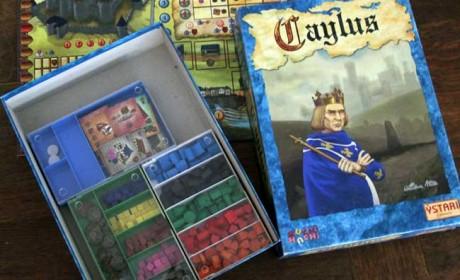 In drei Boxen von Conrad lassen sich alle Spielmaterialien von Caylus verstauen. Foto: Sebastian Wenzel