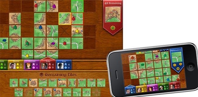 iPhone- und iPad-Version im Vergleich: Der Bild- schirm der Tablet-Variante zeigt nicht einfach nur das Bild in doppelter Größe. Es wurden alle Menüstrukturen überdacht und angepasst, auch die Auswahl zwischen Hoch- und Querformat ist möglich. Foto: TheCodingMonkeys