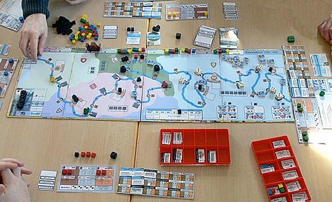 Das Spiel Ruhrschifffahrt von Thomas Spitzer . Foto: Hippodice Spieleclub e.V.