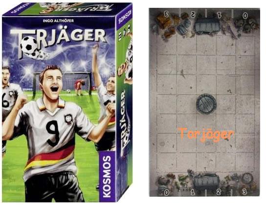 Torjäger: Fussball zwischen Hochglanz und Gosse. Foto (links): Kosmos. Foto/Montage (rechts): Ingo Althöfer