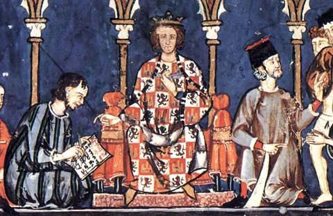 Alfons X. von Kastilien (Abbildung aus dem Libro de los juegos, 1251–1282).