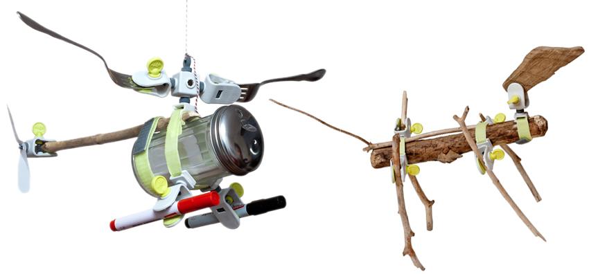 Felix Krinke entwickelte ein nachhaltiges und offenes Baukastensystem aus Gurten, Klemmen oder Nieten. Das Verbindungssystem Klemmi lädt zur spielerischen Umgestaltung und Neuerfindung von Alltagsgegenständen ein.m Fotos: Felix Krinke