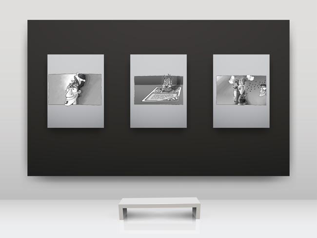 Zeichnungen: Klemens Franz. Hintergrund: avian, fotolia.de. Montage: Sebastian Wenzel.